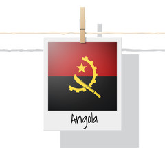African country flag collection with photo of Angola flag , vector , illustration