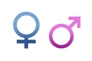Símbolos de igualdad de género.