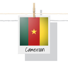 African country flag collection with photo of Cameroon flag , vector , illustration