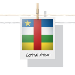 African country flag collection with photo of Central Africa flag , vector , illustration