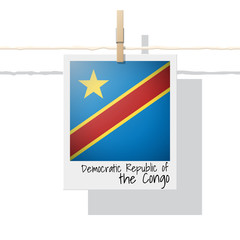 African country flag collection with photo of Democratic Republic of the Congo flag , vector , illustration