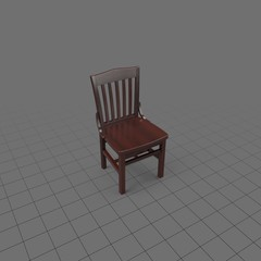 Wood chair with dark varnish