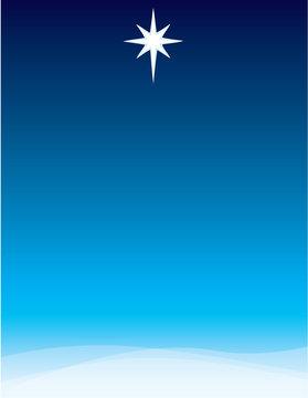 Star of Bethlehem Background for Poster or Invitation