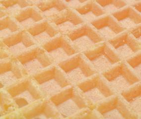Waffle texture close-up.