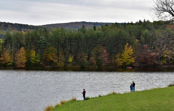Fishing on a Nice Autumn Day in Rural Pennsylvania