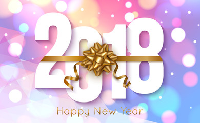 2018 New Year colorful background. Vector illustration.
