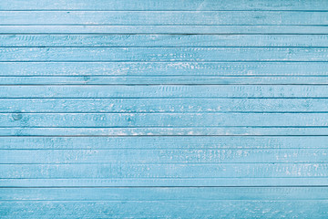 Blue vintage old wooden boards. Winter festive background for decorations. Background for your text and design