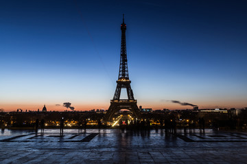 Beautiful morning sky and over looking Eiffel tower.