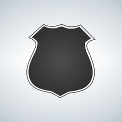 Police badge blank template vector icon illustration