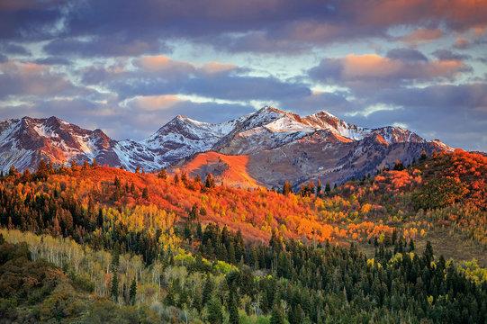 Fall sunrise in the Wasatch Back, Utah, USA.