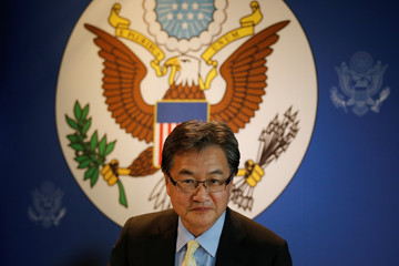 U.S. Special Representative for North Korea Policy Joseph Yun arrives at a meeting with the media in Bangkok, Thailand