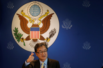 U.S. Special Representative for North Korea Policy Joseph Yun arrives at a meeting with media in Bangkok,