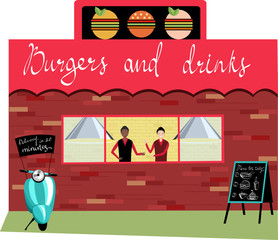 street cafes. vector illustration
