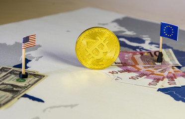 Bitcoin between United States and European Union