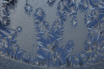 winter drawing on glass