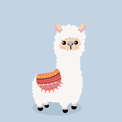 Cute alpaca  fluffy