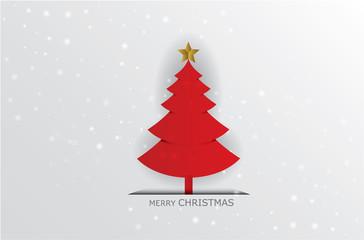 Tree Christmas vector illustration  on white background