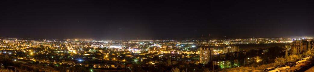 panorama of the evening city of Saratov