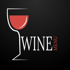 Wine menu abstract design for your project eps 10 vector
