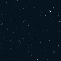 Seamless pattern sky with stars.