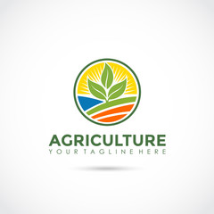 Agriculture Logo Design. Vector Illustrator Eps. 10