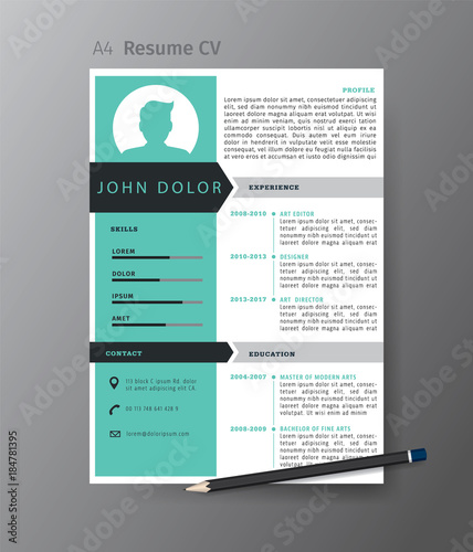 u0026quot clean modern design template of resume or cv vector illustration u0026quot  stock image and royalty