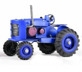 Blue Toy Tractor