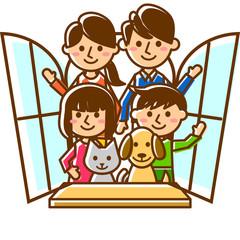 家族 二世代 窓