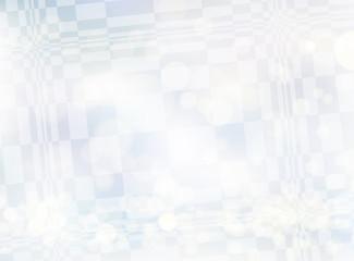 幾何学模様背景素材-シルバーホワイト