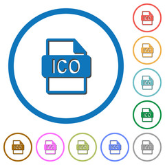 ICO file format icons with shadows and outlines