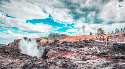 Kiama lighthouse and blowhole, Australia