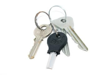 Bunch of keys. Photo of different keys from the door.