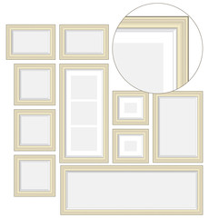 An empty wooden frame,vector illustrations