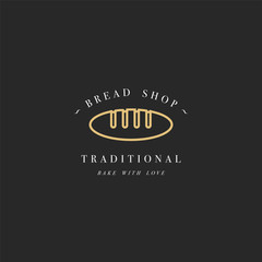 Vector design template and emblem - loaf icon for bake shop. Bakery.