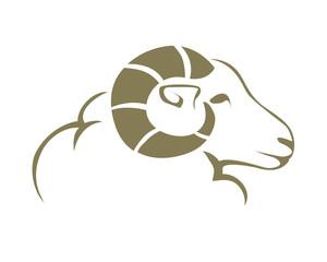Modern Charismatic Goat Logo