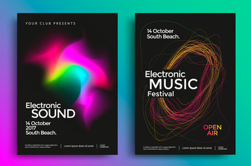 Electronic music festival poster