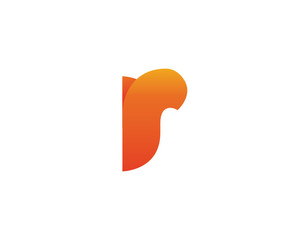 Modern Flaming Passionate Round Corporate R Letter Logo Symbol