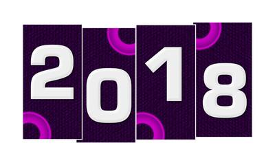 New Year 2018 Purple Pink Rings Horizontal