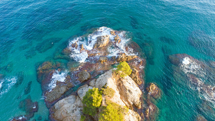 Vue sur la côte méditerranéenne à Lloret de Mar, en Espagne
