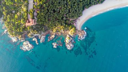 Photo aérienne de la côte méditerranéenne à Lloret de Mar