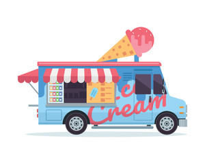 Modern Delicious Commercial Food Truck Vehicle - Ice Cream