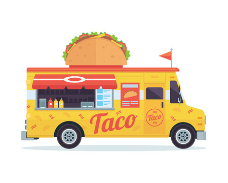 Modern Delicious Commercial Food Truck Vehicle - Taco Bar