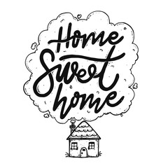 Cute Home Sweet Home Handrawing Illustration