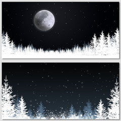 Christmas Magic Night Banners