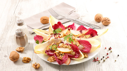 chicory salad with walnut and apple
