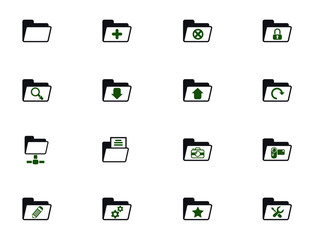 folder simple vector icons in two colors