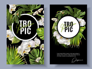 Tropic orchid banners