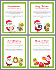 Merry Christmas and Happy New Year Set of Cards