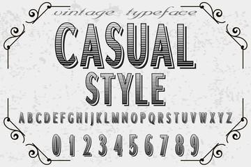 Font alphabet Script Typeface handcrafted handwritten vector label design