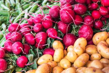 radish and potatoes